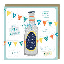 birthday cheers happy birthday beer bottle card whistlefish