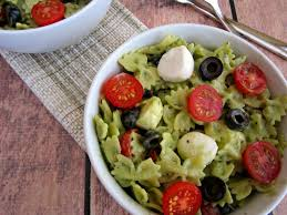 pesto mozzarella pasta salad pumpkin u0027n spice