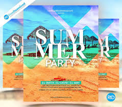 summer party flyer template psd psd free download