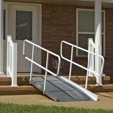 Wheelchair Ramp Handrails Pvi Ontrac Wheelchair Ramp With Handrails Wheelchair Ramps