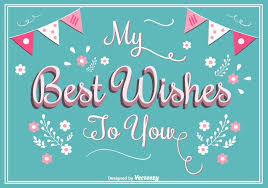 best wishes greeting card download free vector art stock