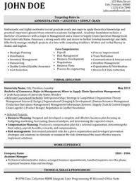 sample logistics resume operations logistics manager resume