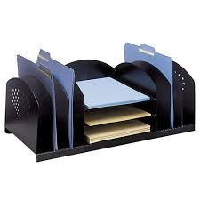 Safco Desk Organizers Safco Rack Desktop Organizer 1 Each Black Quickship