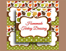 thanksgiving printable labels food label tents and buffet labels