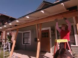 How To Build A Freestanding Patio Roof by How To Repair A Sagging Support Beam How Tos Diy