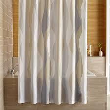 Neutral Shower Curtains Italian Seersucker Neutral Shower Curtain In Shower Curtains