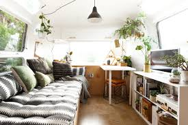 Anthropologie Inspired Living Room by Tour A Vintage Airstream With A Scandi Inspired Remodel