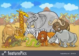 african safari animals wildlife african safari wild animals cartoon stock illustration
