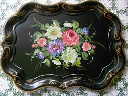 painted serving platters 127 best painted trays tole ware images on