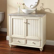 white beadboard modern bathroom vanities with vessel sinks and
