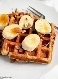 whole wheat banana waffles katiebird bakes