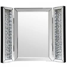 Vanity Table With Tri Fold Mirror Interior Appealing Trifold Mirror For Your Vanity Ideas