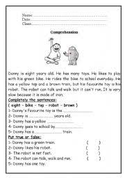 english teaching worksheets reading comprehension