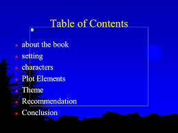 setting the table book book report on night by jenny batchellor table of contents l about