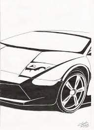 lamborghini sketch lamborghini murcielago drawing by konradjanicki on deviantart