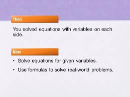 2 8 literal equations algebra ab content standards a ced 4