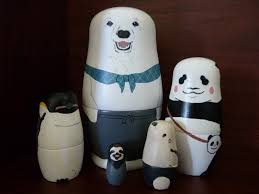 polar bear cafe russian dolls ii by 4649kokeshi on deviantart