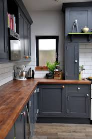 Herringbone Kitchen Backsplash Mahogany Wood Ginger Prestige Door Dark Gray Kitchen Cabinets