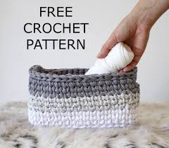 free crochet patterns for home decor free crochet tutorial crochet basket pattern storage baskets