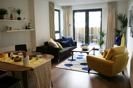 Dining Room Ideas Apartment by Beauteous Living Dining Room With Comfy Sectional Couch In
