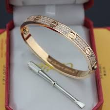 love bracelet pink gold cartier images Screwdriver replica cartier love bracelet pink gold with paved jpg