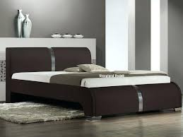 santino faux leather bed frame houston 46 double brown faux