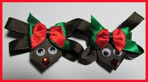 christmas hair bows diy how to make christmas hair bow no 1 reindeer hair