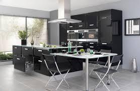 cuisine mur et gris deco cuisine noir et gris
