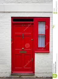 red front door stock photo image of doorstep home english 1207906