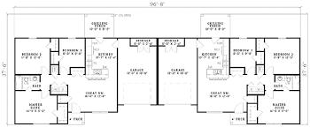 Duplex With Garage Plans Three Bedroom Duplex 59624nd Architectural Designs House Plans