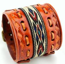 bracelet cuff leather images Women 39 s leather cuff native american bracelet JPG