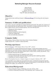 resume summary exles marketing how to write resume summary resume badak