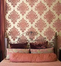 Decorative Wall Stencils Home Decor Wall Stencils Contemporary Bedroom New York By