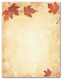 stationery letterhead autumn stationery