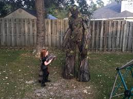 groot costume builds 7 foot groot costume to impress guardians of the