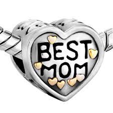 amazon com pugster heart mom love charm sale jewelry beads fit