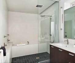 awesome bathroom with shower over bath for interior designing home