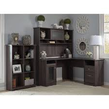 overstock l shaped desk cabot l shaped desk with hutch and 6 cube bookcase free shipping