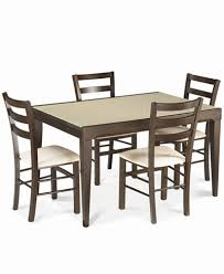 5 Piece Dining Room Sets by Café Latte 5 Piece Dining Set Glass Top Dining Table And 4