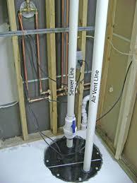backyard how finish basement bathroom sewage pump plumbing