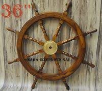 pirate home decor 36 wooden ship steering wheel pirate home decor wood brass fishing