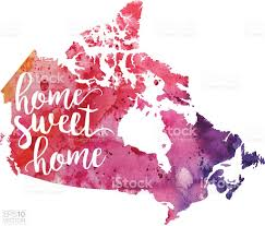 Map Canada by Home Sweet Home Vector Watercolor Map Of Canada Stock Vector Art