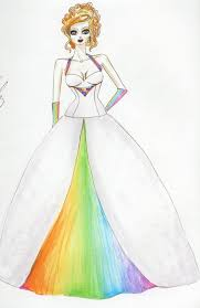 wedding dress ragnarok rainbow wedding i the idea of a rainbow colored wedding