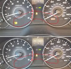 subaru outback check engine light help brake at oil temp and vdc light indicator flashing on dash