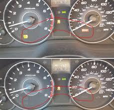 2008 subaru outback brake light bulb help brake at oil temp and vdc light indicator flashing on dash