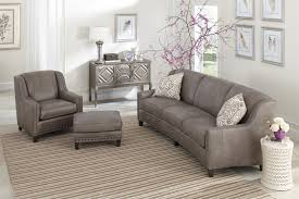 Curved Conversation Sofa by Smith Brothers 227 Slightly Curved Sofa With Sloping Track Arms
