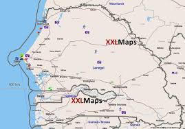 Dakar Senegal Map Tourist Map Of Senegal Free Download For Smartphones Tablets