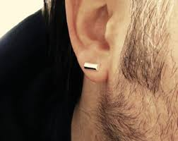 mens with earrings mens stud earrings etsy