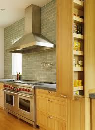 Pull Out Pantry Cabinets Pull Out Pantry Cabinet Kitchen Traditional With Backsplash Light