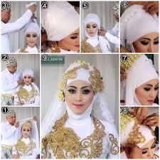 tutorial hijab syar i untuk pengantin tutorial hijab kebaya pengantin muslim modern 1 kebaya wedding
